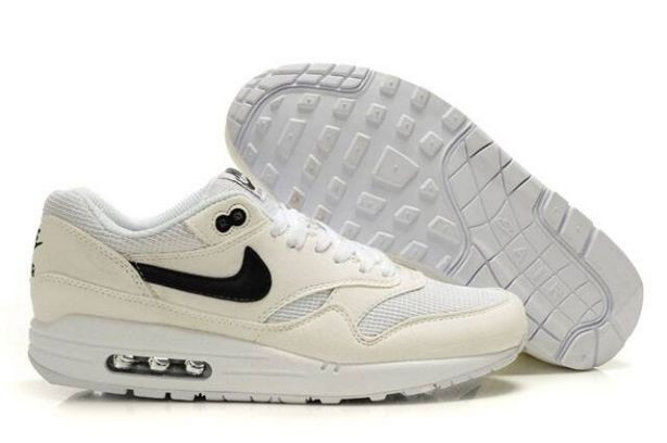 Nike Air Max 1 Mens Trainers Beige White Black